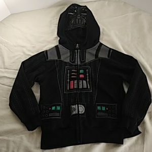 Starwars Darth Vader Zip Hoodie with mask and cape